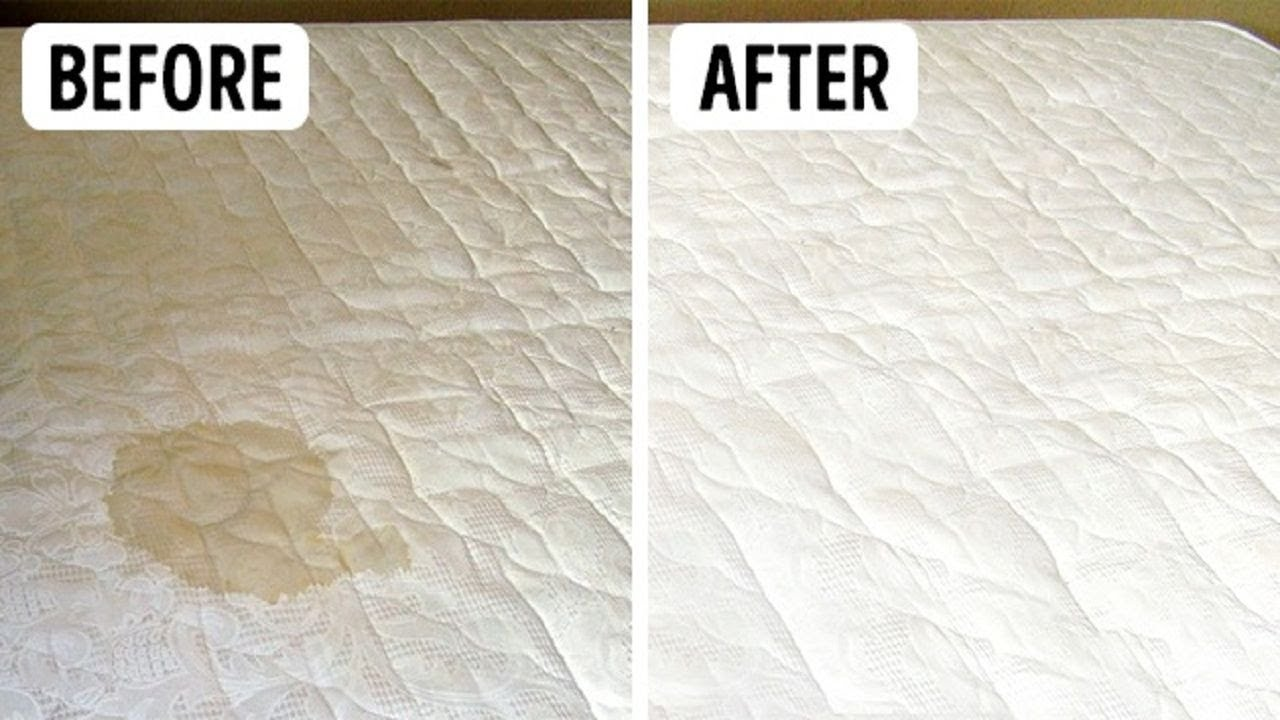 How To Clean Stains Off A Mattress With Baking Soda Vinegar Properly