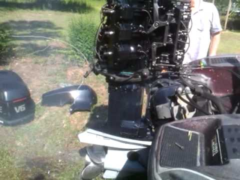 1995 Evinrude 200 Vindicator  YouTube