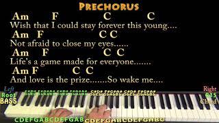 Wake Me Up (Avicii) Piano Jamtrack in Am with Chords/Lyrics (Instrumental)