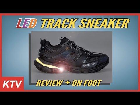 balenciaga track on foot