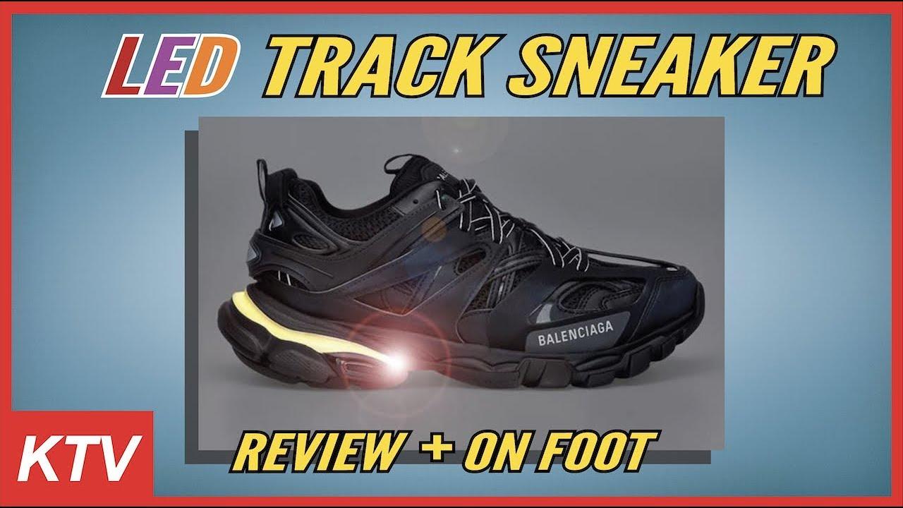 BALENCIAGA TRACK LED TRAINERS (ON FOOT