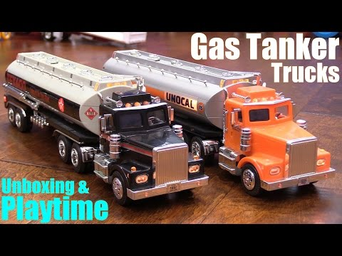 Toy Review Channel: Diecast TRUCKS! Gas Tanker Semi Hauler Trucks. Texaco and Unocal 76