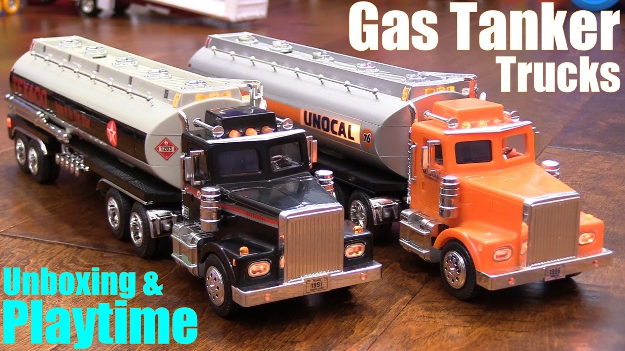 Download Toy Review Channel: Diecast TRUCKS! Gas Tanker Semi Hauler Trucks. Texaco and Unocal 76