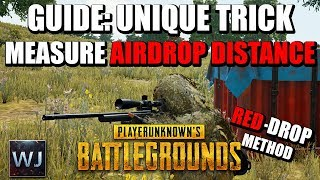 GUIDE: UNIQUE TRICK to measuring AIRDROP DISTANCE only using a RED-DOT in PUBG