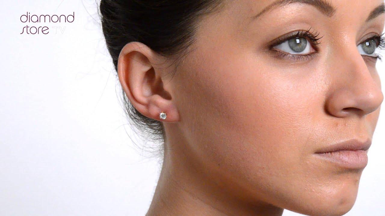 Diamond Gold 4 1mm 18K 0 50ct Stud Earrings FG23 72A