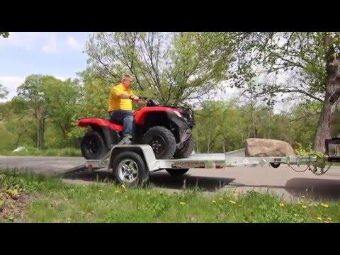 Aluma 548 Utility Trailer - Honda ATV