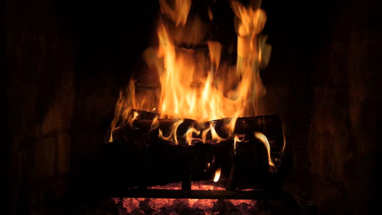 The Best Fireplace Video - 10 hour crackling logs, rain ...