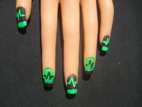 Cyber Goth Nail Art Youtube