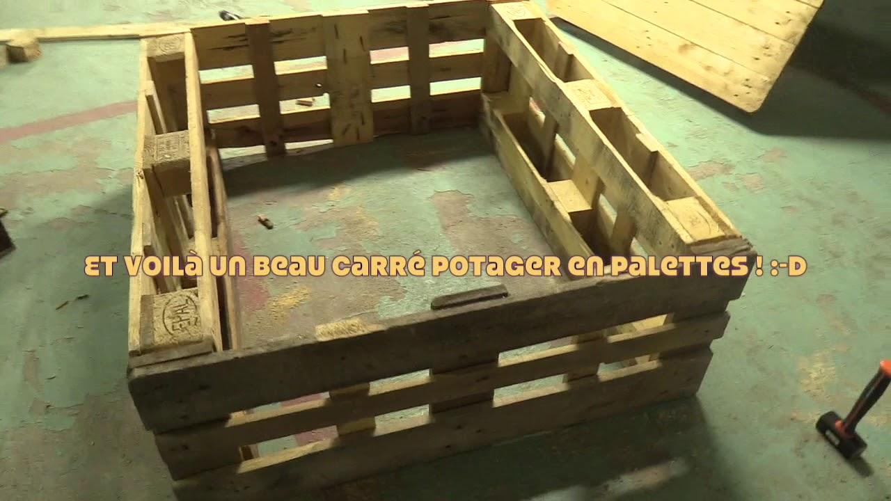 Fabriquer Potager Carré En Bois incr'educ : etape 3 - tuto carrés potagers en palettes (avril)