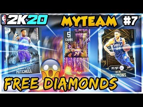 FREE DIAMOND Donovan Mitchell & Simmons! Free Kobe Pack! NBA 2K20 My Team Ep 7