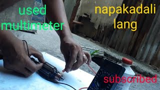 Gambar cover how to test starter motor using multimeter(tagalog)
