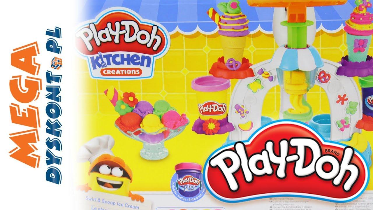 Play Doh Kuchnia Zakręcona Lodziarnia Kreatywne Zabawki I Unboxing