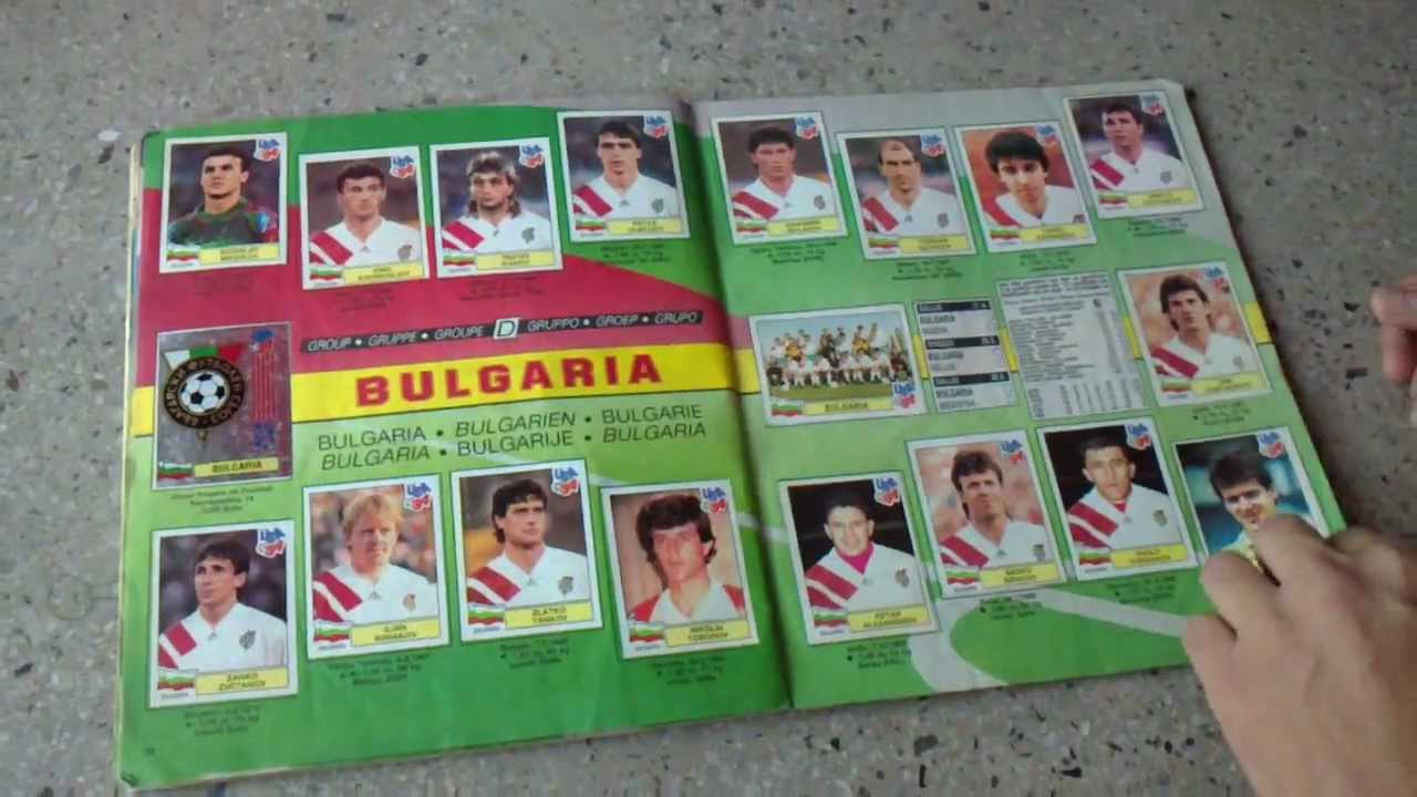 Panini fifa world cup 1994 full complete album panini usa for Epl table 98 99