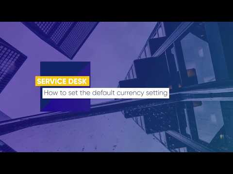 Lesson 27: How to set the default currency setting