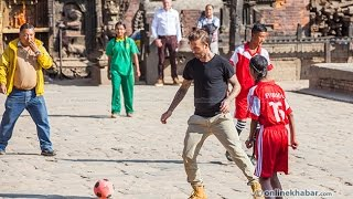 David Beckham enjoying football in Nepal