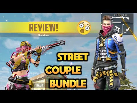 FREEFIRE Street Couple Bundle MALE & FEMALE DRESS REVIEW AND GAMEPLAY 🔥