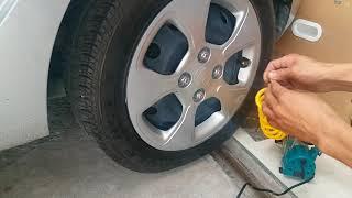 Test khả năng bơm lớp ô tô khi xì hết hơi của máy bơm hơi Total 140PSI /nguyenchidam