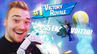 TESTATAAN FORTNITEA PS5:SELLA🎮 (Eka Voitto PS5:lla) | Fortnite Suomi