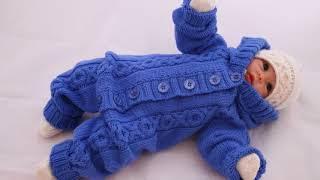 Knittings and PDF patterns by Kairi Design/ Комбинезон для малыш baby jumpsuit knitting pattern