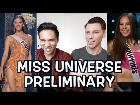 CATRIONA GRAY Preliminary + Top 10 Swimsuit And Evening Gown Miss Universe 2018