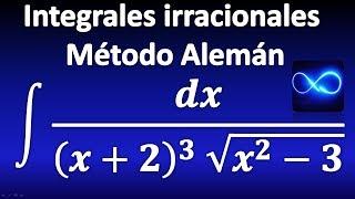 310. Integral mediante cambio de variable y método Alemán, funciones irracionales
