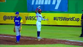 Highlights: Brazil v Panama - U-15 Baseball World Cup 2018