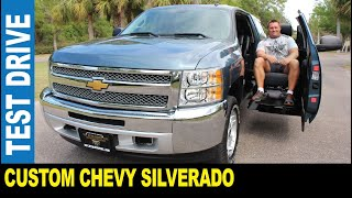 Handicap Chevy Silverado custom truck rare power side entry driven by Jarek Clearwater Florida USA