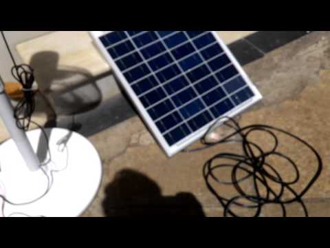 Belifal Solar Pedestal DC 12V Fans Using Direct Solar Panel Marathi Version