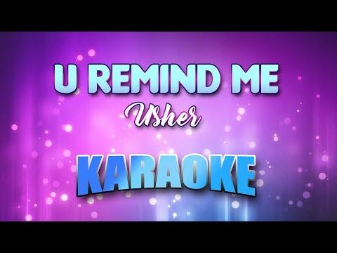 Usher - U Remind Me (Karaoke & Lyrics)