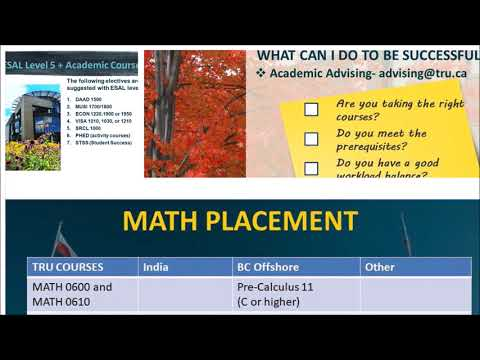How to plan your Bachelor of Computing Science Degree - Thompson Rivers University