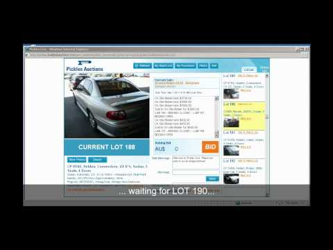 Using Pickles LIVE Auction to Bid for a vehicle online