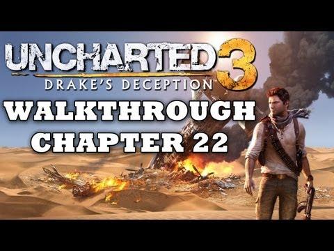 SPOILERS! Uncharted 3 Walkthrough: Chapter 22 - Ending - (Part 22/22) [HD]