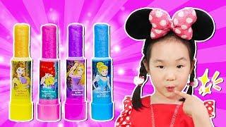 보람튜브 보람이처럼 색깔 립스틱 발랐어요. 어린이 공주 화장품으로 색깔 놀이 color lipstick - 마슈토이 Mashu ToysReview
