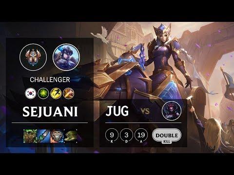 Sejuani Jungle vs Elise - KR Challenger Patch 10.10