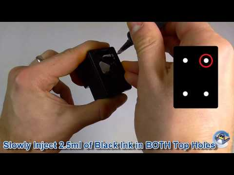 How to Refill HP 302 & HP 62 Black Ink Cartridges