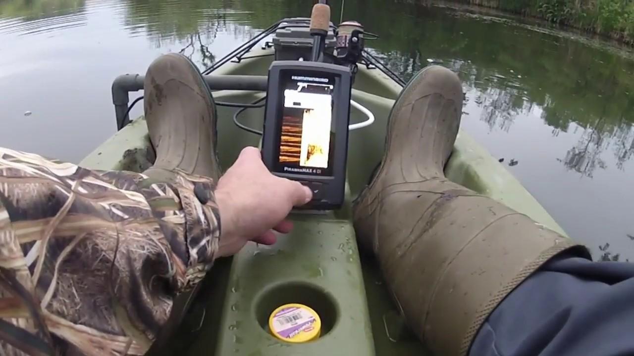 Humminbird PiranhaMax 4 DI Sonar kayak mount test