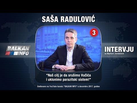 INTERVJU: Saša Radulović - Naš cilj je da srušimo Vučića i uklonimo parazitski sistem! (01.12.2017)