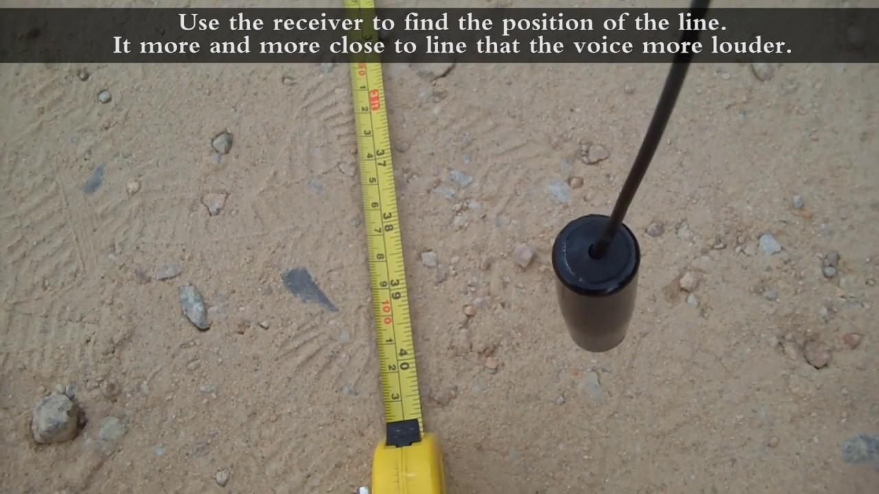 Buried Wire Locator : Underground wire locator youtube