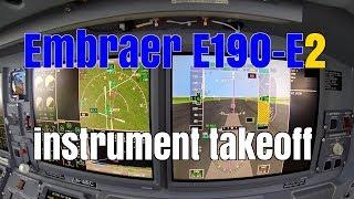 Embraer E190 E2 cockpit instrument takeoff