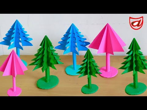 3D Paper Christmas Tree Design | How to make Easy Paper X-Mas Tree DIY videos