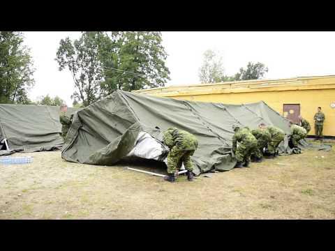 Operation UNIFIER - Tents setup - YouTube