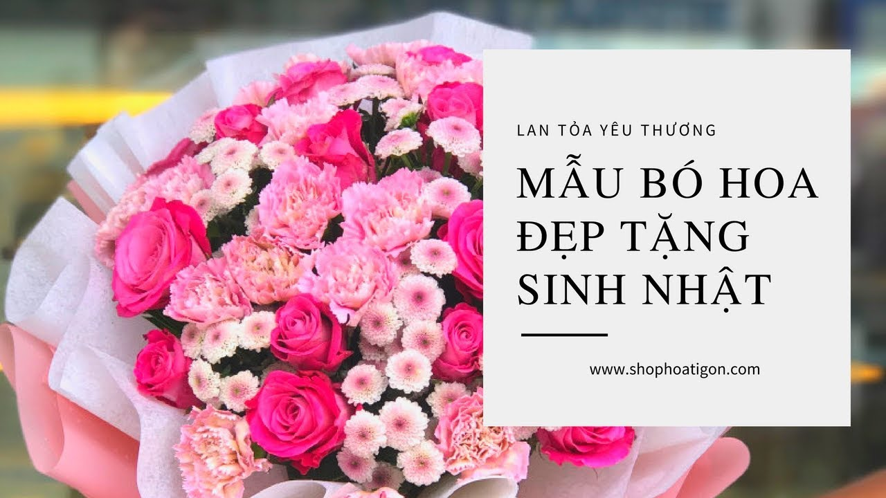 """Shophoatigon"" Mẫu bó hoa đẹp tặng sinh nhật"