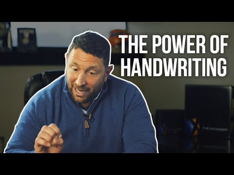 "The Art of ""Hand Written"" Note"
