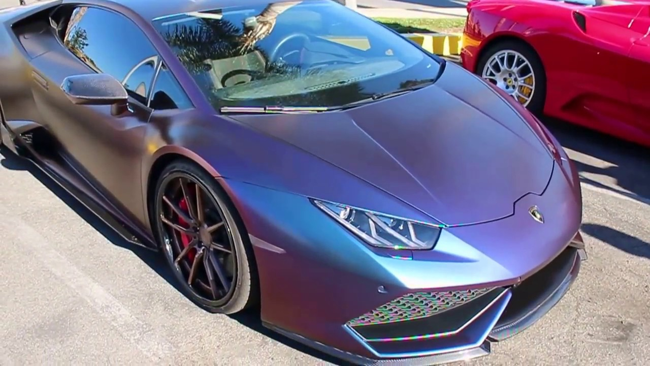 Lamborghini Huracan Color Changing Wrap Toys For Tots Car Show - Toys for tots car show 2018