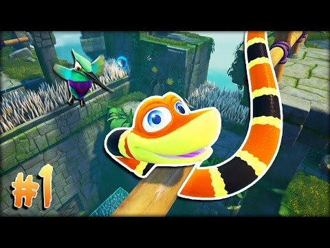 A WHOLE NEW SLITHERY ADVENTURE! | Snake Pass #1 W/ MicroGuardian!