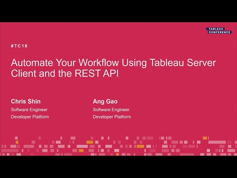 Tableau Server Client & The REST API To Automate Your Workflow
