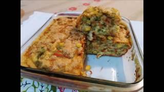 Torta de Tapioca com Legumes