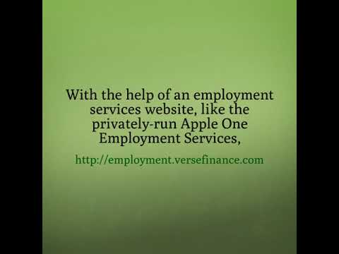 Get A Job With Apple One Employment Services