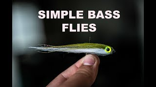 FLY TYING FRIDAY! two easy and effective bass flies!