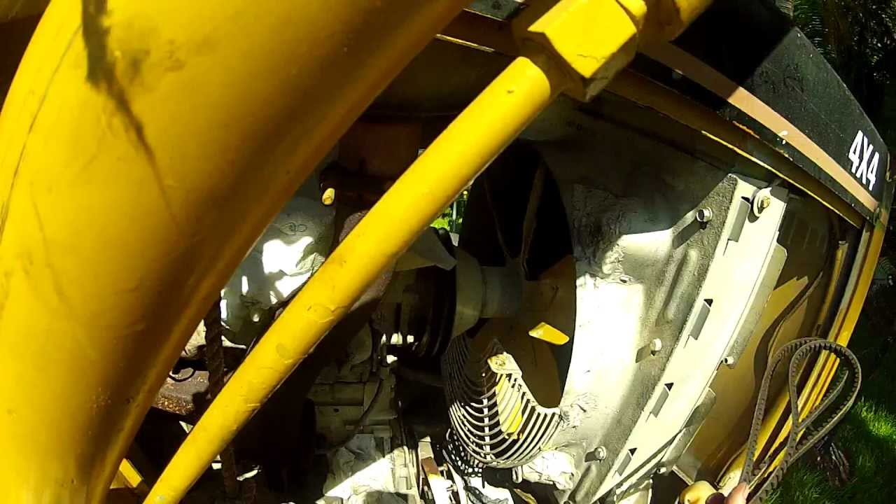 Backhoe Loader V-belt Replacement